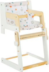 Small Foot Wooden Doll's High Chair | Wooden Doll Furniture | Fits Baby Dolls