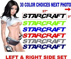 Starcraft Boat Decal Boats Decals 30 Color Options - Message Me For Other Sizes