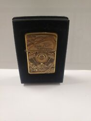 Rare Harley Davidson Brass V Twin Eighty Cubic Inches Engine Zippo Lighter