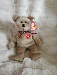 Ty 1999 Beanie Baby Signature Bear Error In Tag Rare And Retired. Mint Condition