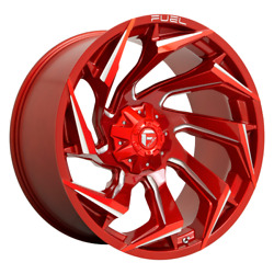 20 Inch Red Wheel Rim Ford F150 Truck 6x135 Lug Fuel Offroad Reaction D754 20x10