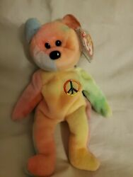 Ty Beanie Baby Peace Bear Rare Tag Errors. Mint Condition Retired