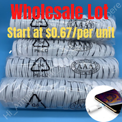 Wholesale Oem 3/6ft Usb Fast Charger Cable Lot For Iphone 12 11 Xr 8 7 Data Cord