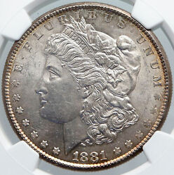 1881 S United States Of America Silver Morgan Us Dollar Coin Eagle Ms Ngc I89167