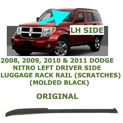 2008 09 10 2011 Dodge Nitro Left Driver Side Luggage Rack Rail Black 1jq43rxfac