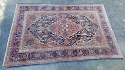 Vintage Oriental Rug Early Collectible Colorful Sarouk Rug Unique Find