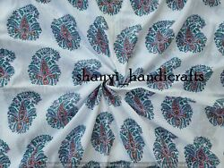 Block Print Fabric Sold By Yard Abstract Print 100 Cotton Light Weight Soft