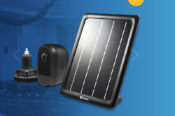 Swann Wire-free Black 1080p Security Camera With Solar Charging Panel And Outdoor