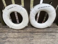 Wwii Life Ring Ship Bouy Uss Augusta Ca-31 X2
