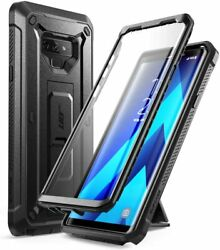 Galaxy Note 9 Full-body Black Rugged Holster Case With Built-in Screen Protector