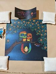 Marq Spusta Two Birds And Their Egg Open Eyes Full Size Edition Midnight Variant