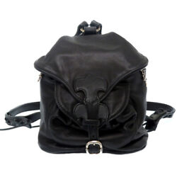 Authentic Chrome Hearts Baby Backpack Bag Leather/silver925 Black 0120