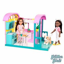 Glitter Girls Dolls By Battat Andndash Gg Doll House Playset With Furniture And Home