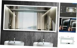 Dimmable 84x40 In Led Bathroom Mirror Antifog Wall Mounted Lighted 8440
