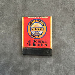 Vintage Matchbook Southern Pacific Lines Railroad African American Steward
