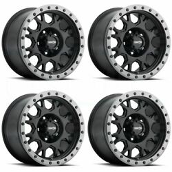 20x9 Vision Gv8 Invader 8x170 -12 Black Anthracite Lip Wheels Rims Set4