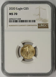 2020 Gold Eagle 5 Tenth-ounce Ms 70 Ngc 1/10 Oz.