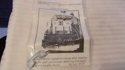 Ho Scale Diesel Snow Plow White Metal From Holgate And Reynolds Bnos Pl58