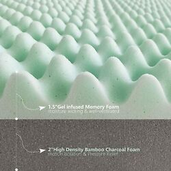 Lincelli Extra-luxurious 4-inch Quilted Double-layer Memory Foam Mattress Topper