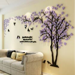 Wall Sticker 3d Acrylic Mirror Decals Background Poster Home Decoration Bedroom