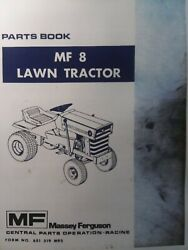 Massey Ferguson Mf 8 Gear And Hydro Lawn Tractor And Implements Parts Catalog Manual