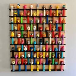 77 Wall Pez Dispenser Display Holds 77 22 X 27.5 Pine Wood Paint Stain Options