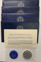 Lot Of 4-1972-s Uncirculated Us Mint Eisenhower 40 Silver Dollar. T113