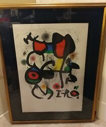 Joan Miro For The Exhibition Bronzes Signed Numbered Framed