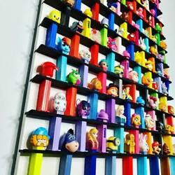 94 Wall Pez Dispenser Display Holds 94 22 X 33 Pine Wood Paint Stain Options