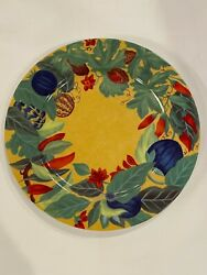 Laure Japy - Piments - 12andrdquo Charger Plates Set Of 8 - Limoges - Rare