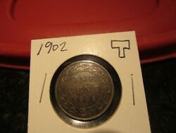1902 - Canadian Penny - Canada One Cent - Circulated