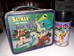 Vintage Batman Lunch Box And Thermos National Periodical 1966