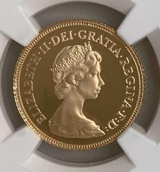 1984 British Elizabeth Ii 1/2 Sovereign Gold Coin Ngc Pf69uc