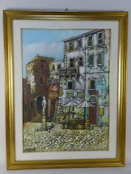 Painting Landscape Oil Canvas Xx Italy Rome Sandro Cellanetti With Certificate