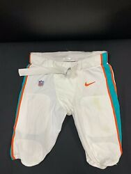 67 Miami Dolphins Nike Game Used White Pants 2019/2020 Season With Belt