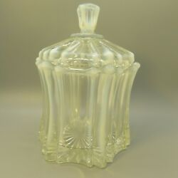 Fenton Vulcan 9551 Candy Dish W/lid – Crystal / French Opalescent
