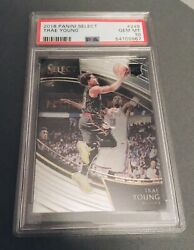2018-19 Panini Select Trae Young Rookie Rc Courtside Rare Psa 10 Gem Mint Hawks