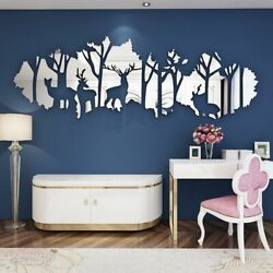 Wall Stickers Big Size Acrylic Mirrors Living Room 3d Interior Decorations Home
