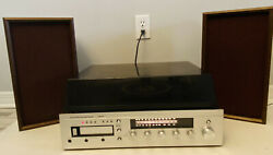 Vtg Jcpenny Stereo Fm/am Turntable 8 Track Player Recorder W/speakers 683-1746