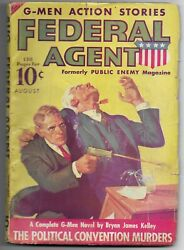 Federal Agent - August 1936 - Vol. 2 1 1st Issue Under Title - Public Enemy