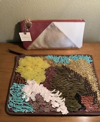 2 Anthropologie Small Bags Pouches $37.00