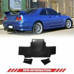 Fit For Nissan Skyline R33 Gtr Rear Diffuser Splitter Carbon Glossy Ts Style