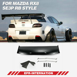 Rb Style Frp Unpainted For Mazda Rx8 Se3p Rear Gt Spoiler Wing Exterior Kit