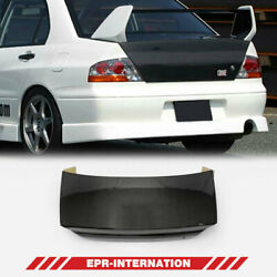 Oe Style Carbon Glossy Rear Trunk Fit For Mitsubishi Evolution Evo 7 8 9