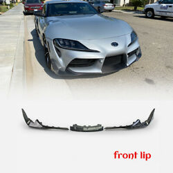 T Type Forged Carbon Look For Toyota 19+ Supra A90 Front Lip Bumper Splitter 3pc