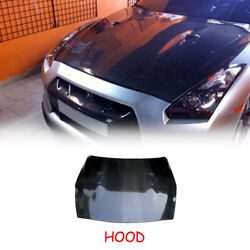 Fit For Nissan R35 Gtr Front Bumper Hood Exterior Body Kits Oe Carbon Glossy
