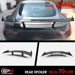 Ren Style Carbon Glossy Fit For Mercedes Benz Amg Gt Rear Gt Spoiler Wing