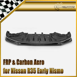 For Nissan 2009-2012 R35 Early Nsm-style Carbon Fiber Front Bumper Lip Kits