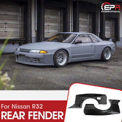 Frp Racing Rear Over Fender + Extension 4pcs For Nissan Skyline R32 Gtr Rb-style