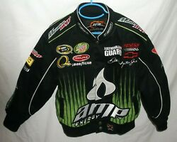 Dale Earnhardt Jr Nascar Amp 88 Front Snap Sewn Jacket Black Youth Small5-6